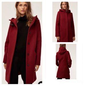 ARITZIA BABATON Pearce Wool/Cashmere Coat Size XS